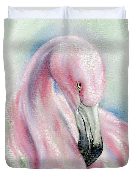Coy Flamingo Duvet Cover