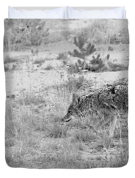 Coyote Blending In Duvet Cover by Christine Till