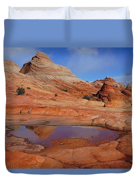 Coyote Butte Reflection Duvet Cover
