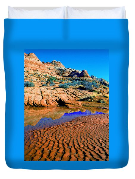Coyote Buttes Reflection Duvet Cover