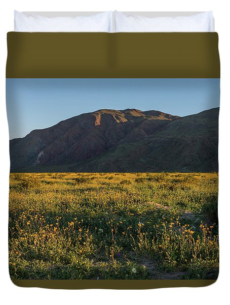 Coyote Mountain And Henderson Canyon Road Duvet Cover