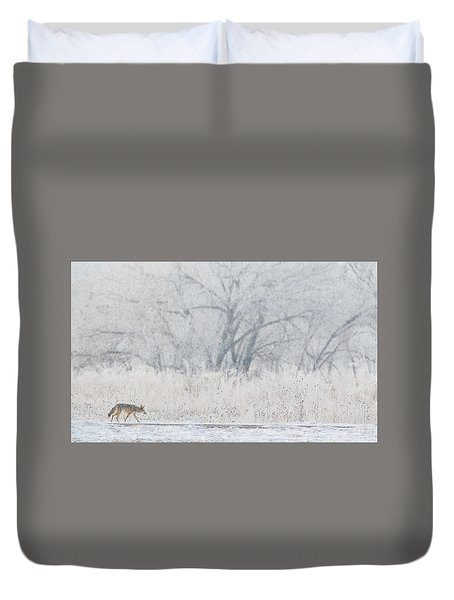 Coyote On The Hunt Duvet Cover