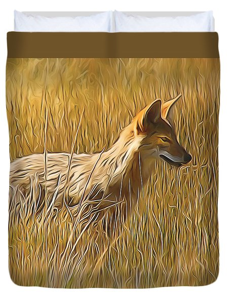 Coyote Sunshine Duvet Cover