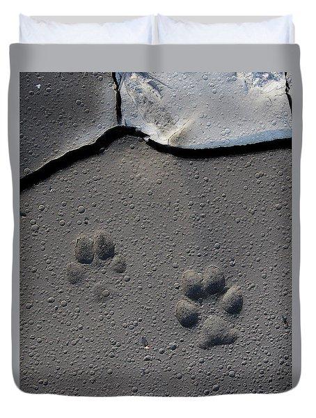 Coyote Tracks Duvet Cover