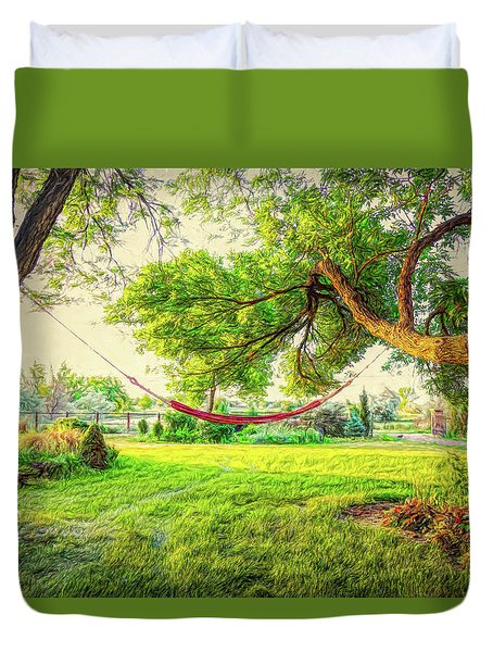 Duvet Cover featuring the photograph Cozy Lazy Afternoon by James BO Insogna
