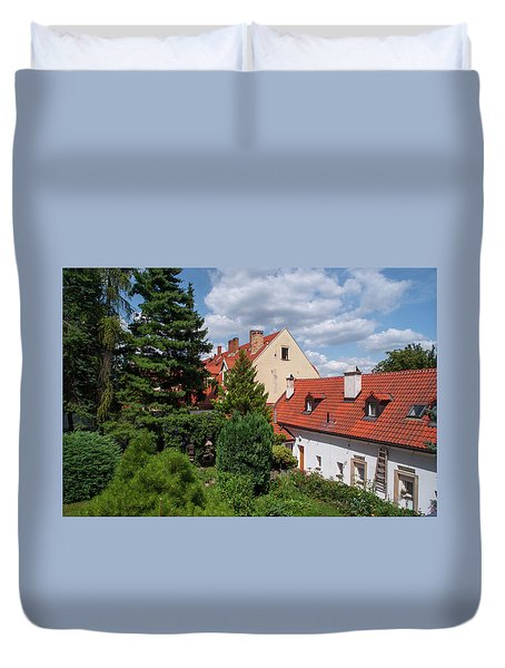 Duvet Cover featuring the photograph Cozy Prague by Jenny Rainbow