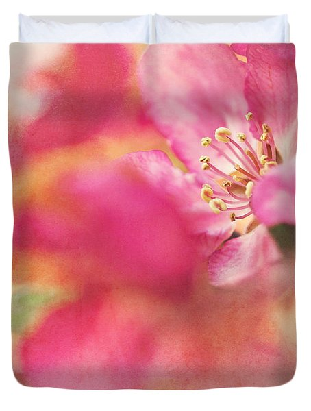 Crab Apple Blossoms II Duvet Cover