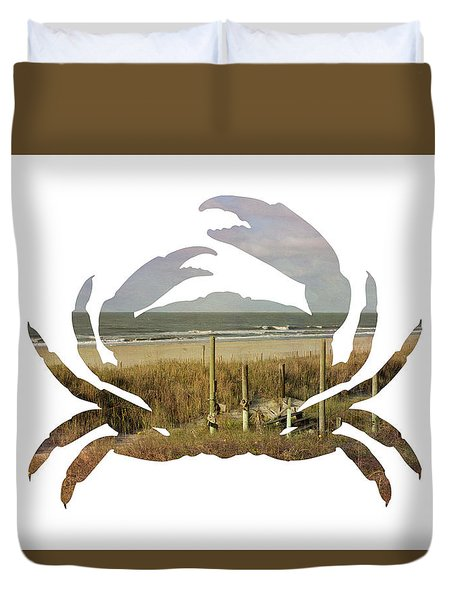 Crab Beach Duvet Cover