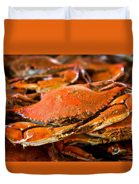 Crab Boil Duvet Cover