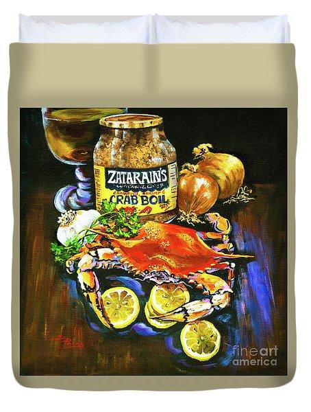 Crab Fixin's Duvet Cover