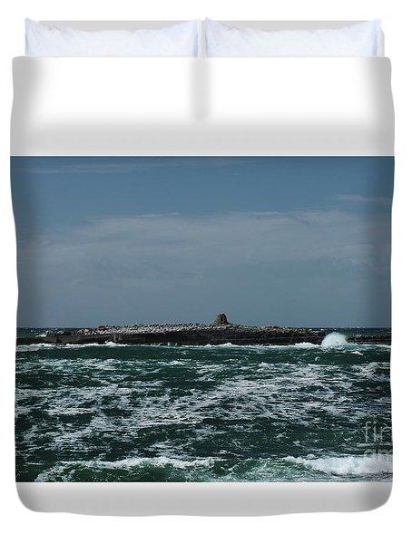 Crab Island Duvet Cover