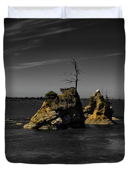 Crab Rock Duvet Cover