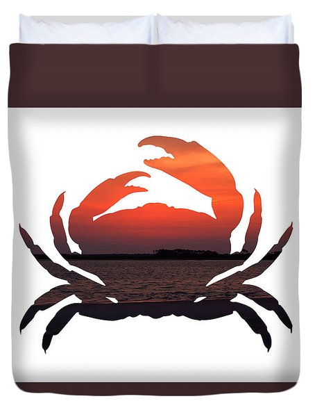 Crab Sunset Duvet Cover