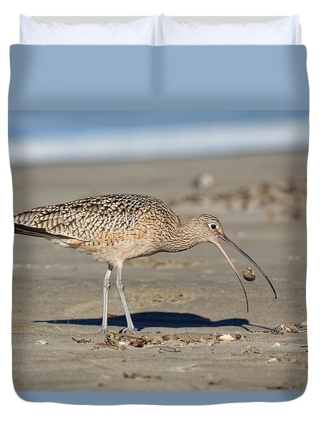 Crab Toss - Curlew Duvet Cover