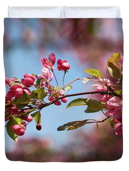 Crabapple In Spring Section 1 Of 4 Duvet Cover