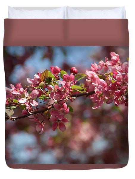 Crabapple In Spring Section 2 Of 4 Duvet Cover
