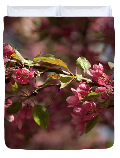 Crabapple In Spring Section 3 Of 4 Duvet Cover
