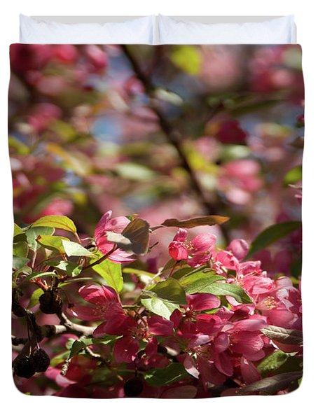 Crabapple In Spring Section 4 Of 4 Duvet Cover