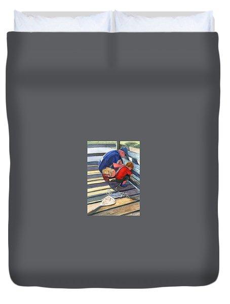 Crabbing Duvet Cover