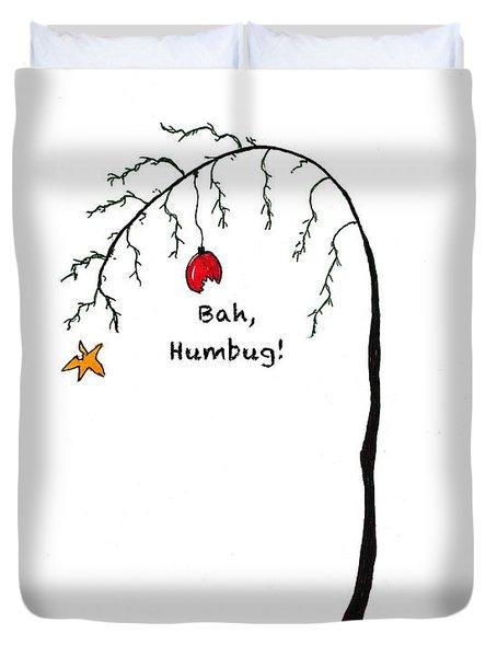Crabby Bah Humbug Christmas Tree - Bah Humbug Duvet Cover