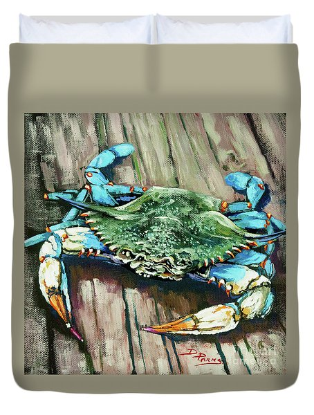 Crabby Blue Duvet Cover