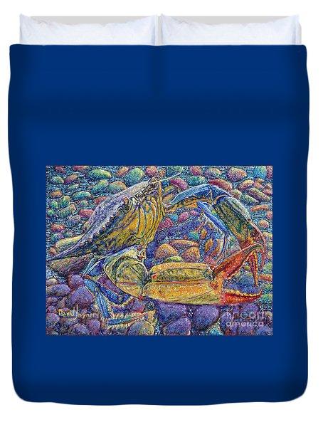 Crabby Duvet Cover by David Joyner