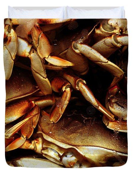 Crabs Awaiting Their Fate Duvet Cover