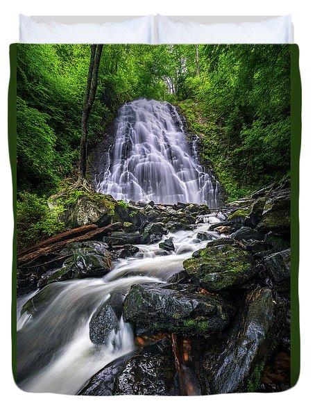 Crabtree Falls North Carolina Duvet Cover