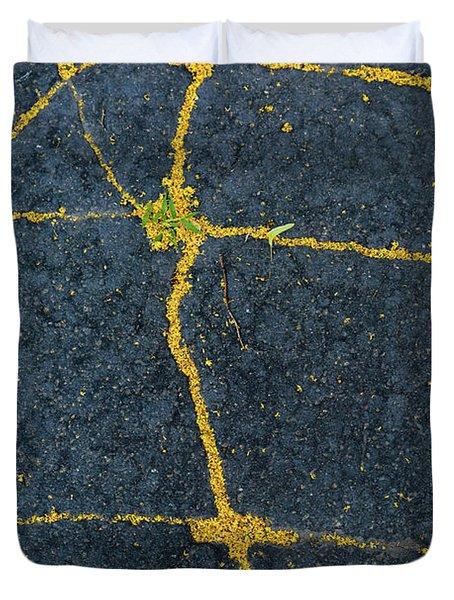 Cracked #1 Duvet Cover