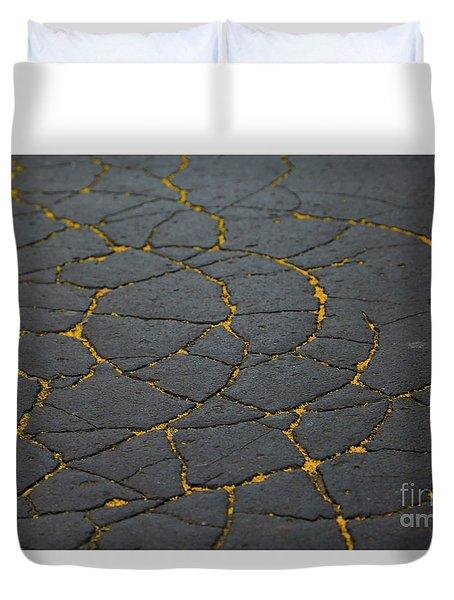 Cracked #11 Duvet Cover