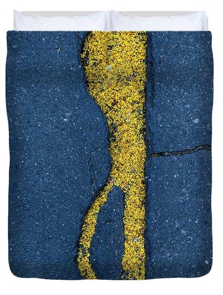 Cracked #3 Duvet Cover