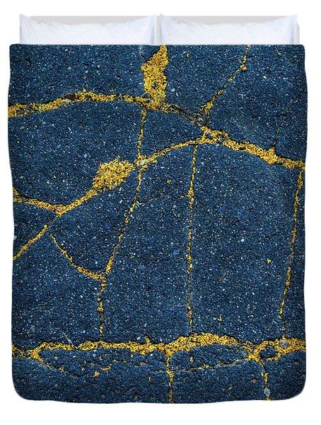 Cracked #5 Duvet Cover