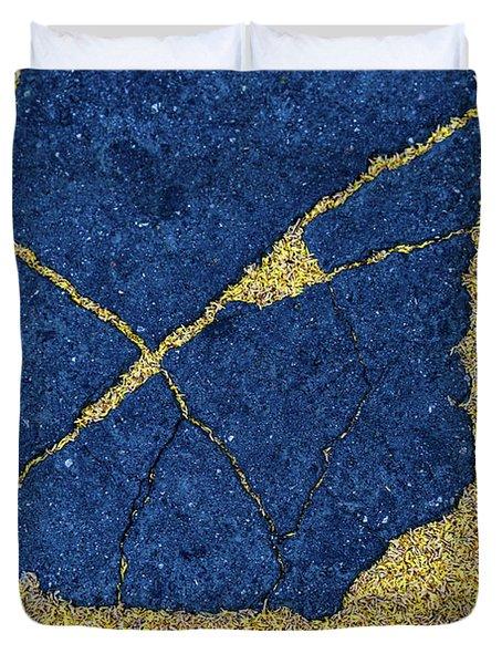 Cracked #8 Duvet Cover