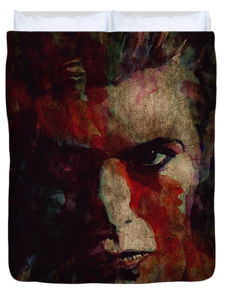 Cracked Actor Duvet Cover by Paul Lovering