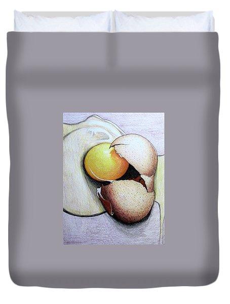Cracked Egg Duvet Cover by Mary Ellen Frazee