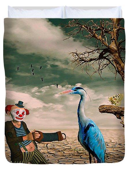 Cracked IIi - The Clown Duvet Cover
