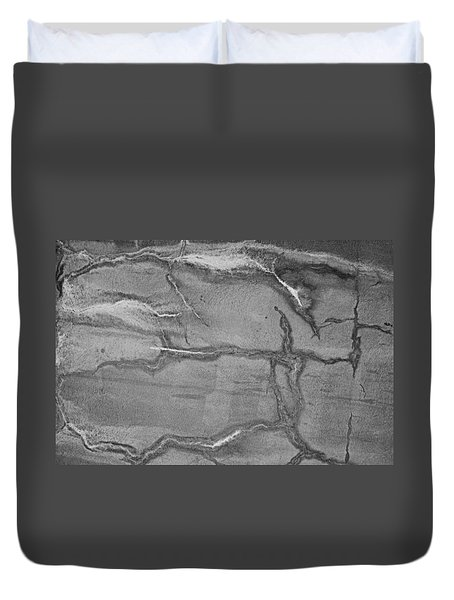 Duvet Cover featuring the photograph Cracked by Kristin Elmquist
