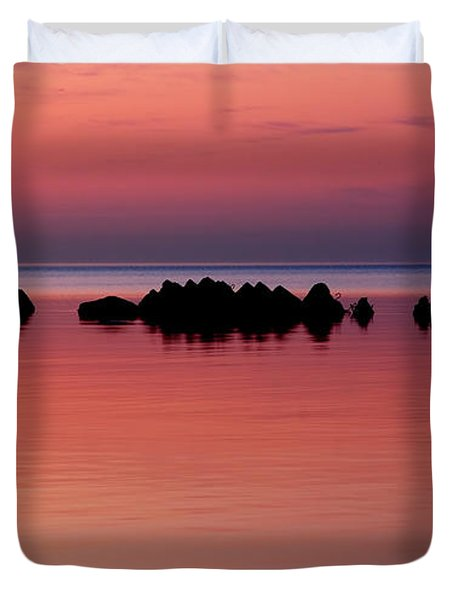 Cracking Dawn Duvet Cover by Joe  Ng