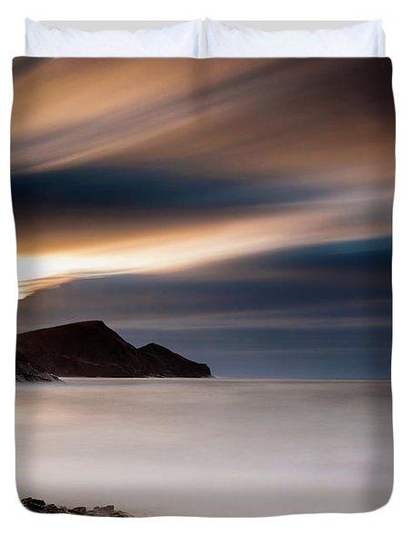Crackington Haven Sunset Duvet Cover
