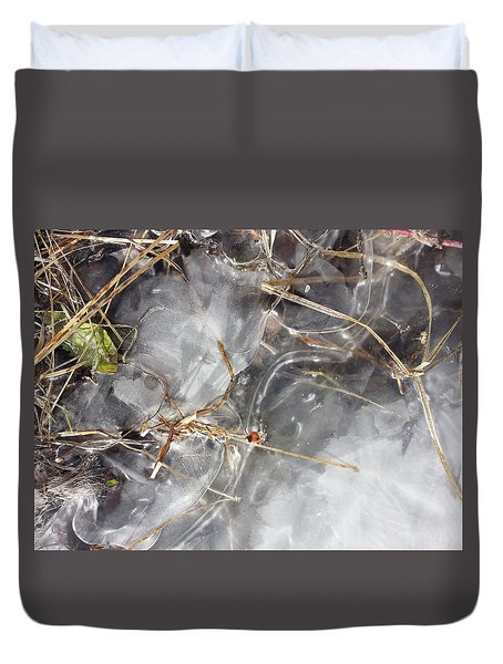 Crackling Ice I Duvet Cover by Joanne Smoley