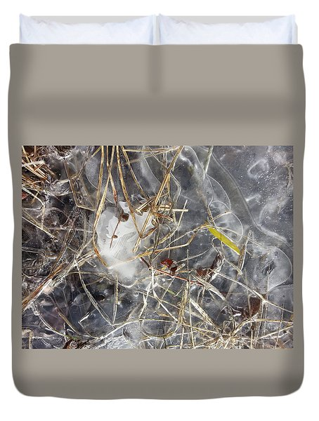 Crackling Ice II Duvet Cover by Joanne Smoley