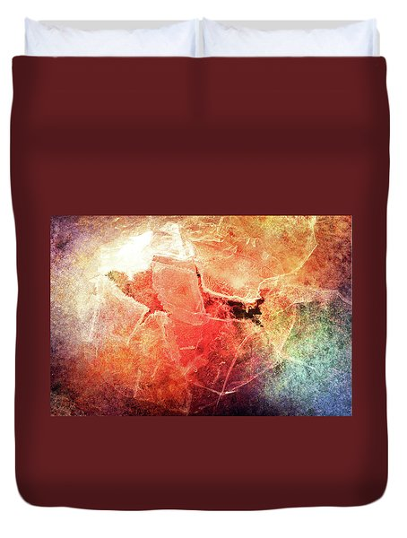 Cracks Of Colors Duvet Cover