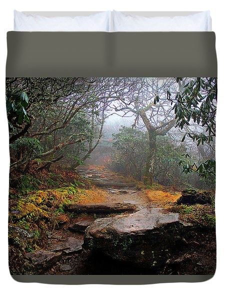 Duvet Cover featuring the photograph Craggy Gardens by Jessica Brawley