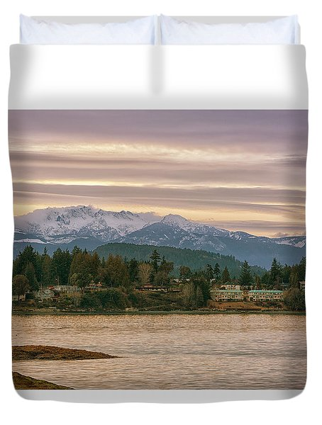 Duvet Cover featuring the photograph Craig Bay by Randy Hall