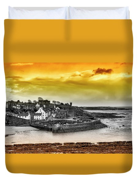 Crail Harbour Duvet Cover by Jeremy Lavender Photography
