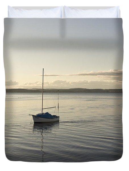 Cramond. Boat. Duvet Cover