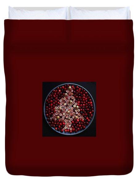Cranberry Christmas Tree Duvet Cover