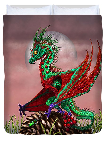 Cranberry Dragon Duvet Cover by Stanley Morrison