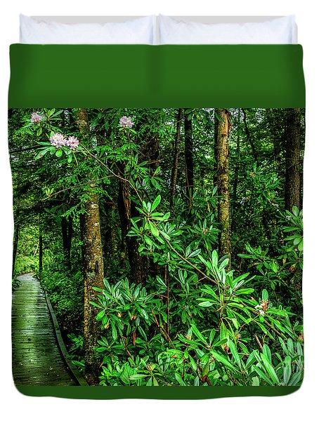 Cranberry Glades Boardwalk Duvet Cover