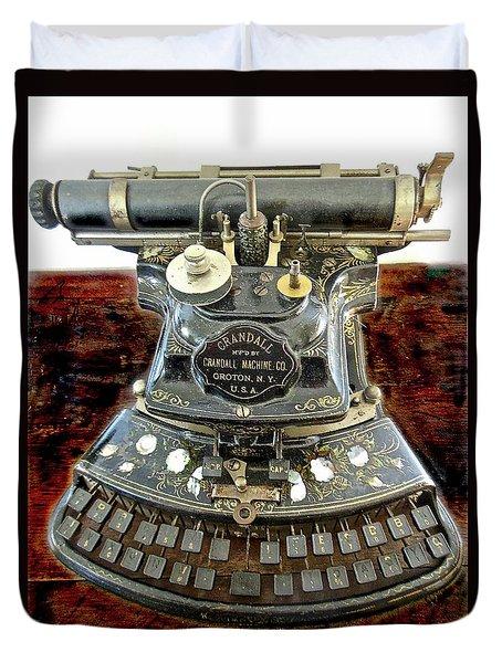 Crandall Type Writer 1893 Duvet Cover